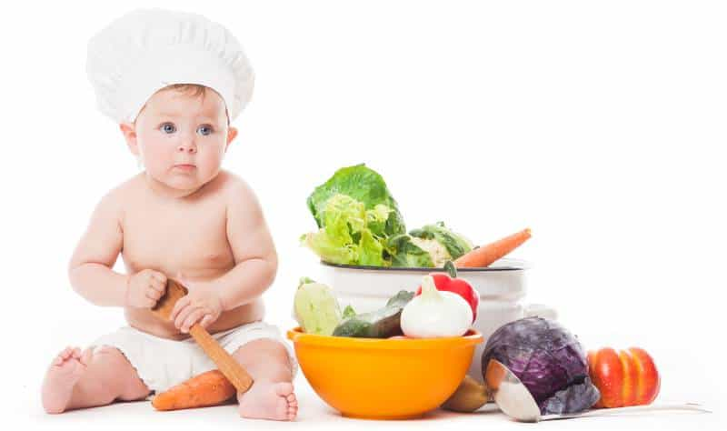 early childhood centre baby with food